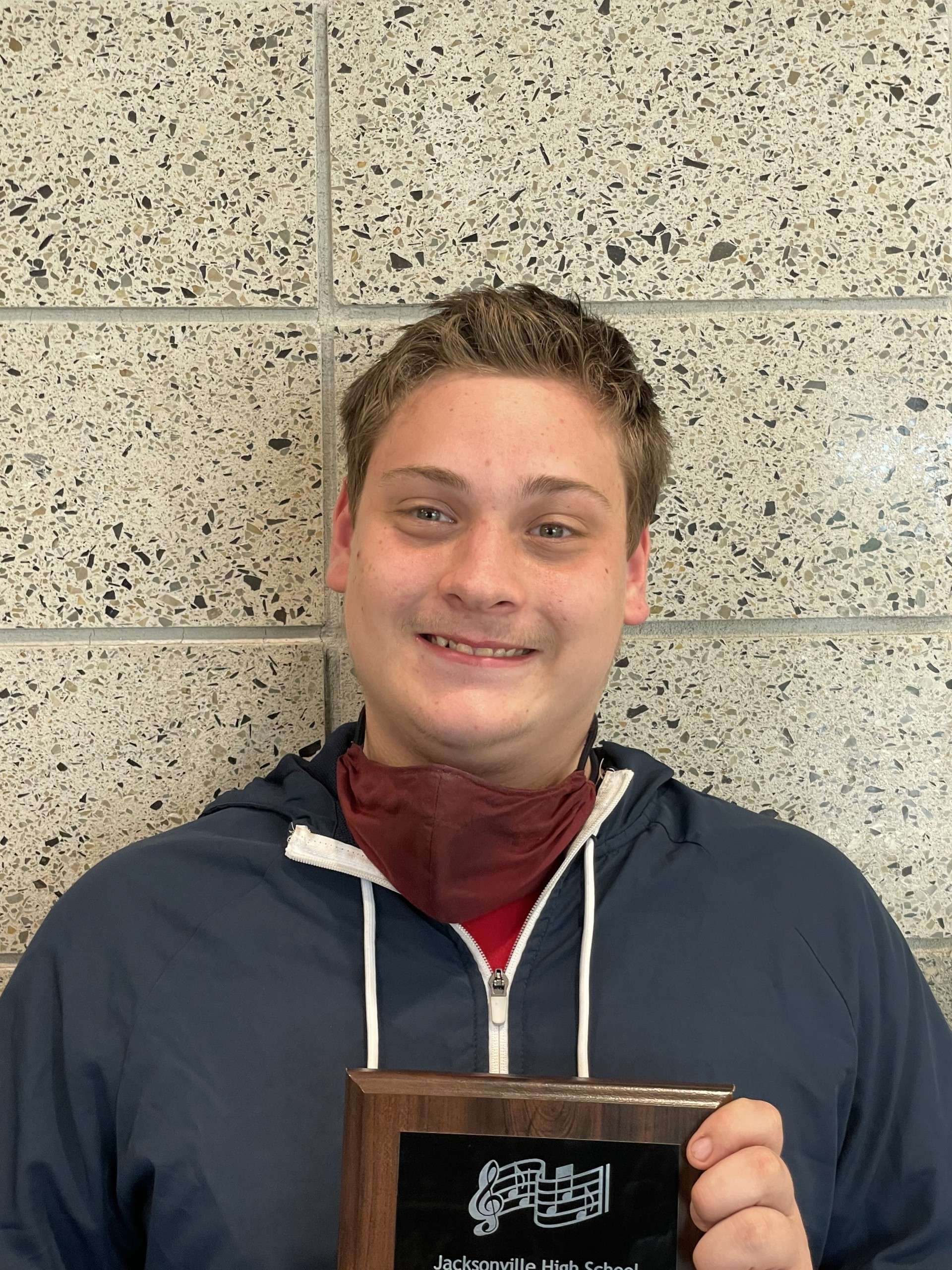William being awarded a Senior Plaque 2020-2021 School Year